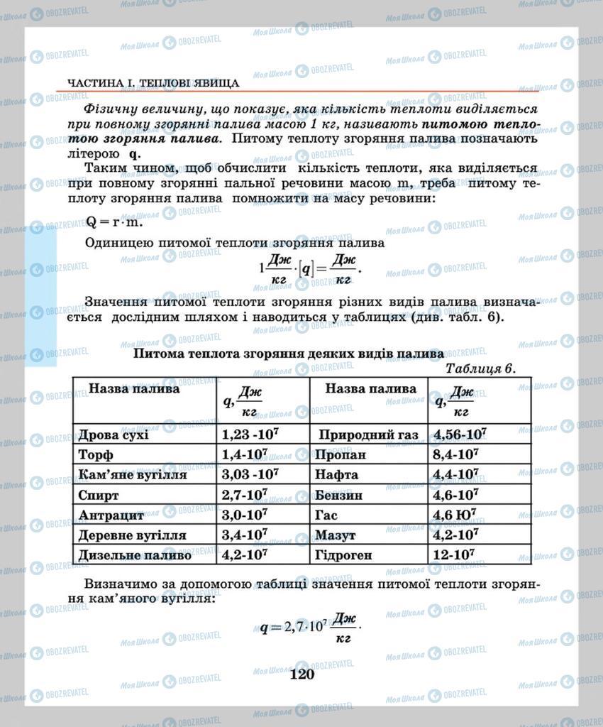 Підручники Фізика 8 клас сторінка 120