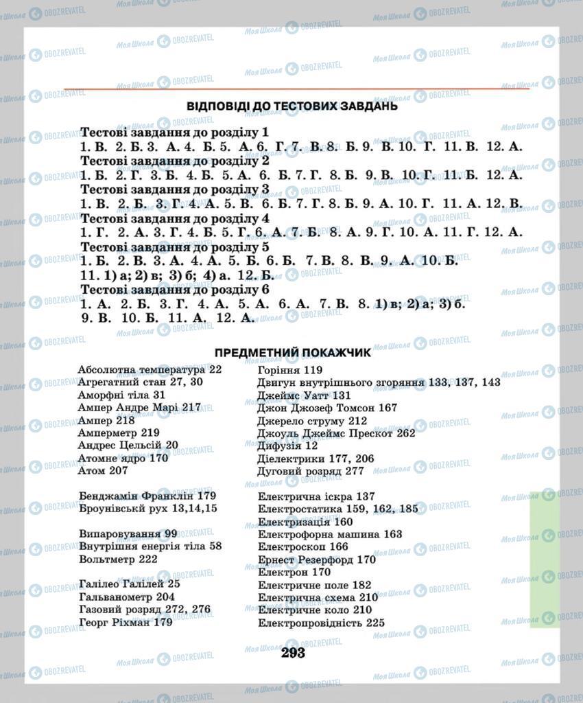 Підручники Фізика 8 клас сторінка 293