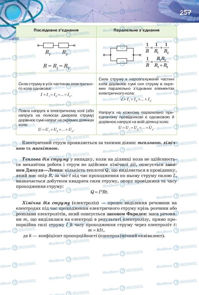 Учебники Физика 8 класс страница 257