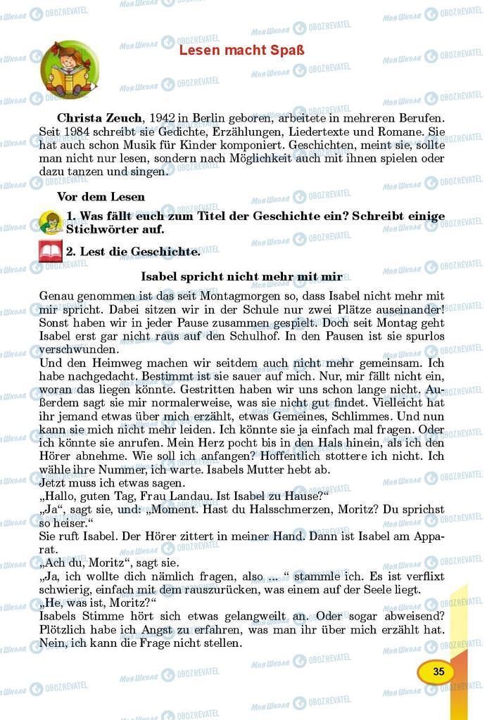 Учебники Немецкий язык 8 класс страница 35
