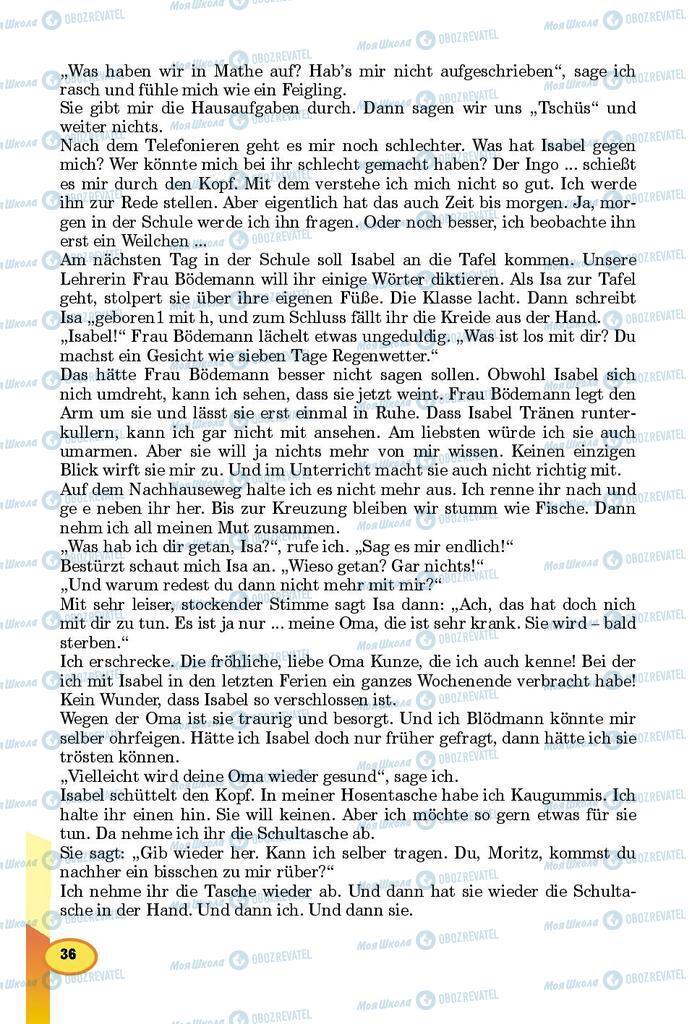 Підручники Німецька мова 8 клас сторінка 36