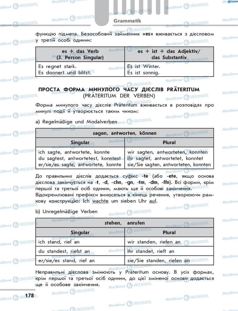 Підручники Німецька мова 8 клас сторінка 178