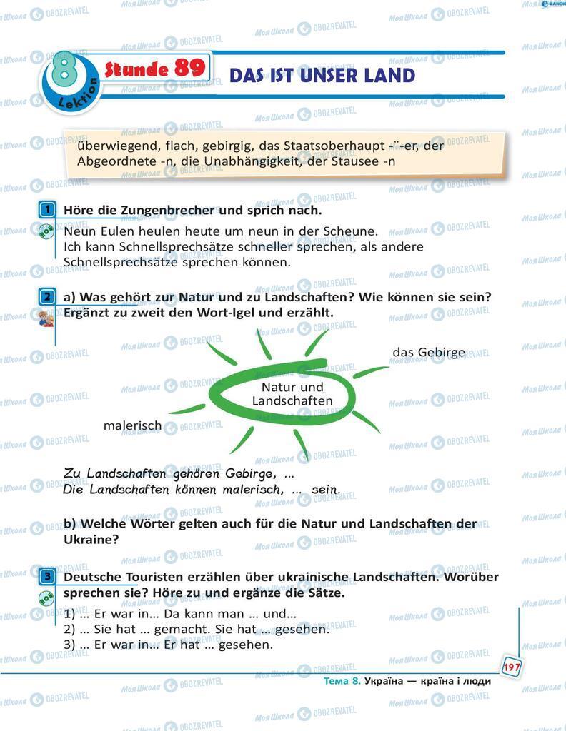 Підручники Німецька мова 8 клас сторінка 197
