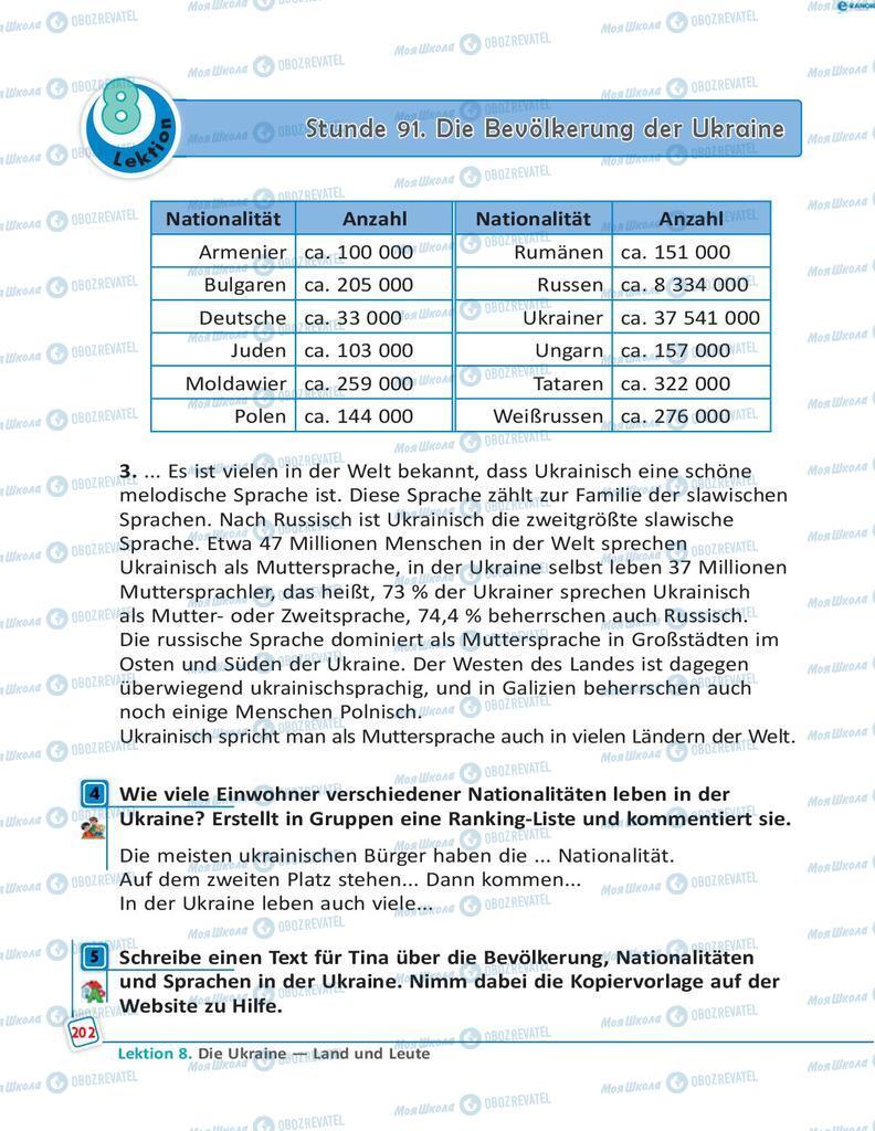 Підручники Німецька мова 8 клас сторінка 202