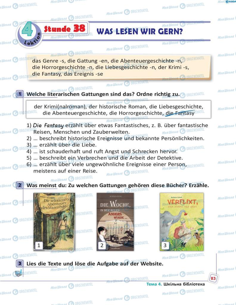 Підручники Німецька мова 8 клас сторінка 83
