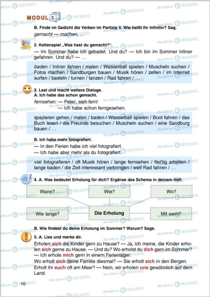 Підручники Німецька мова 8 клас сторінка 10