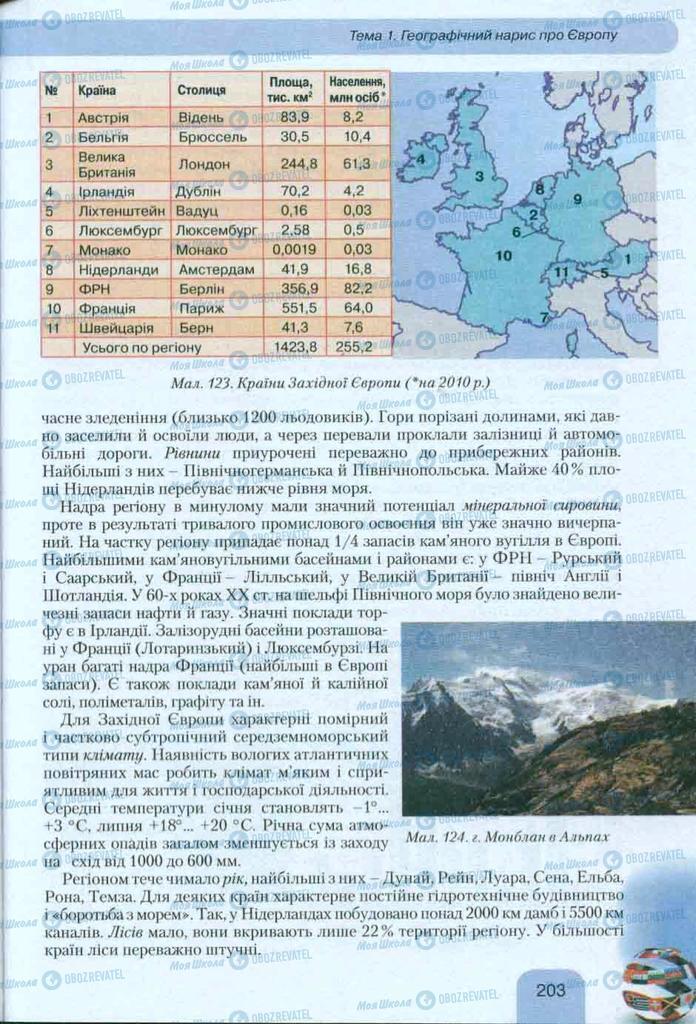 Учебники География 10 класс страница 203