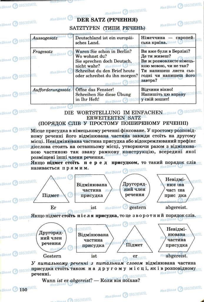 Підручники Німецька мова 8 клас сторінка 149