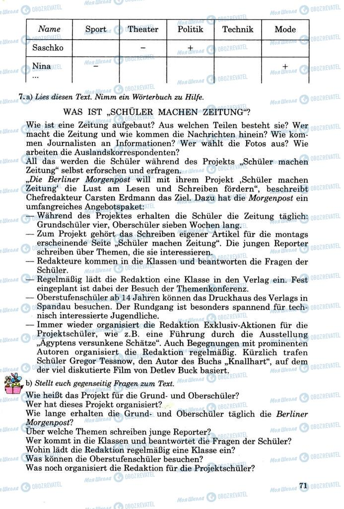 Підручники Німецька мова 8 клас сторінка 70