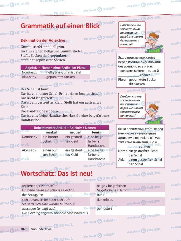 Учебники Немецкий язык 8 класс страница 102