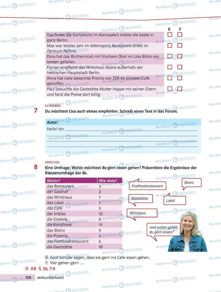 Підручники Німецька мова 8 клас сторінка 108