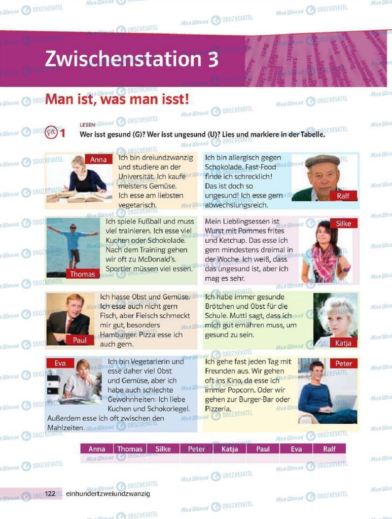 Підручники Німецька мова 8 клас сторінка 122