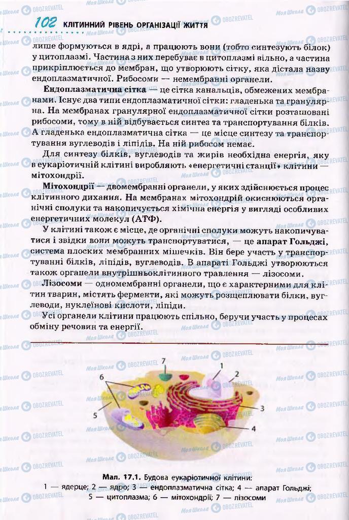 Підручники Біологія 10 клас сторінка 102