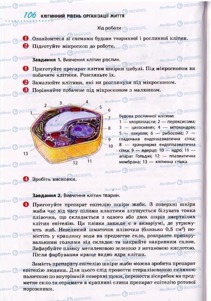 Підручники Біологія 10 клас сторінка 106