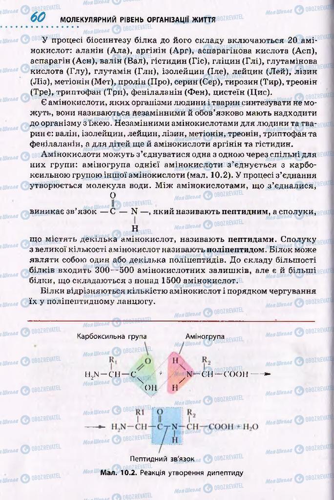 Підручники Біологія 10 клас сторінка 60