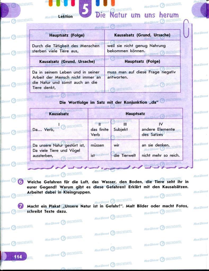 Підручники Німецька мова 8 клас сторінка 114