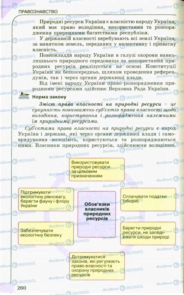 Підручники Правознавство 10 клас сторінка 260