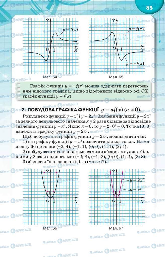 Учебники Алгебра 9 класс страница  85