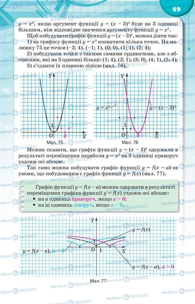Підручники Алгебра 9 клас сторінка 89