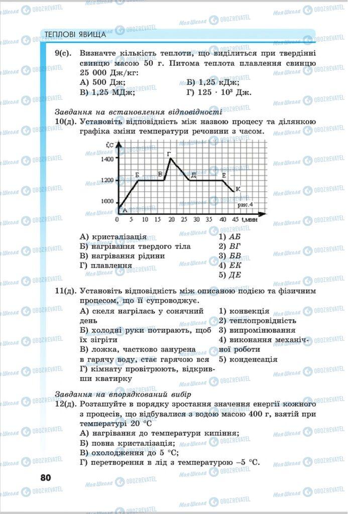 Підручники Фізика 8 клас сторінка 80