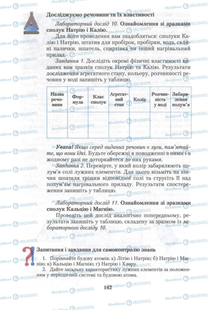 Підручники Хімія 10 клас сторінка 162