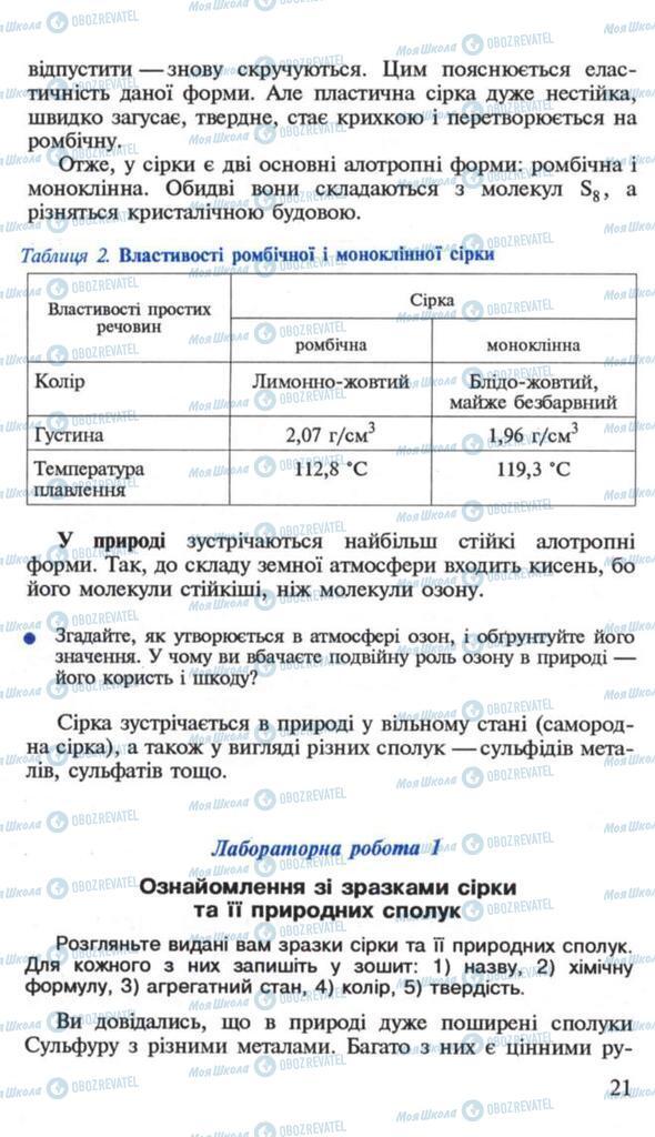 Підручники Хімія 10 клас сторінка 21