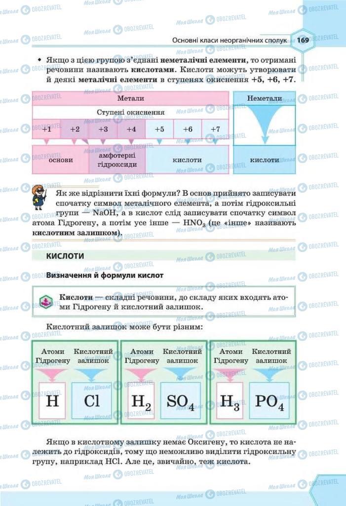 Підручники Хімія 8 клас сторінка 169