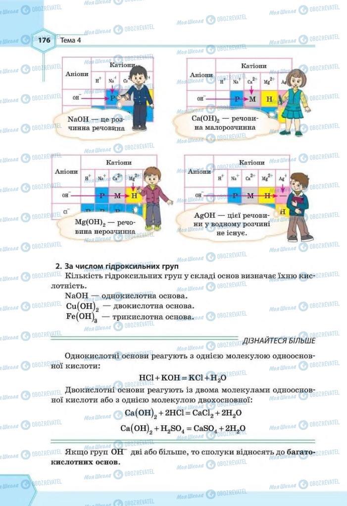 Підручники Хімія 8 клас сторінка 176