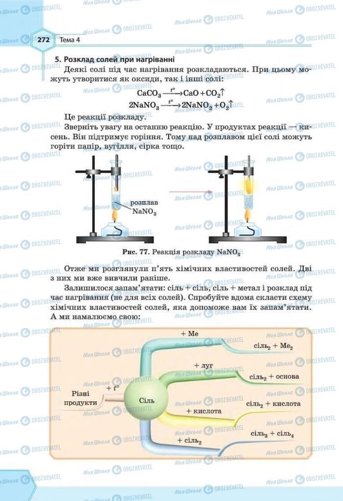 Підручники Хімія 8 клас сторінка 272