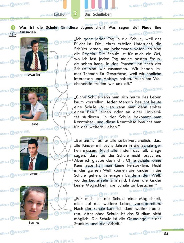 Учебники Немецкий язык 10 класс страница 35