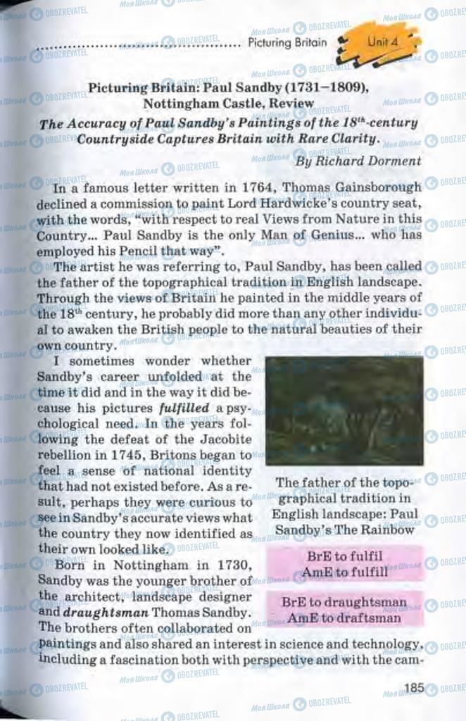 Підручники Англійська мова 10 клас сторінка 185