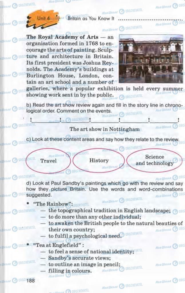 Підручники Англійська мова 10 клас сторінка 188