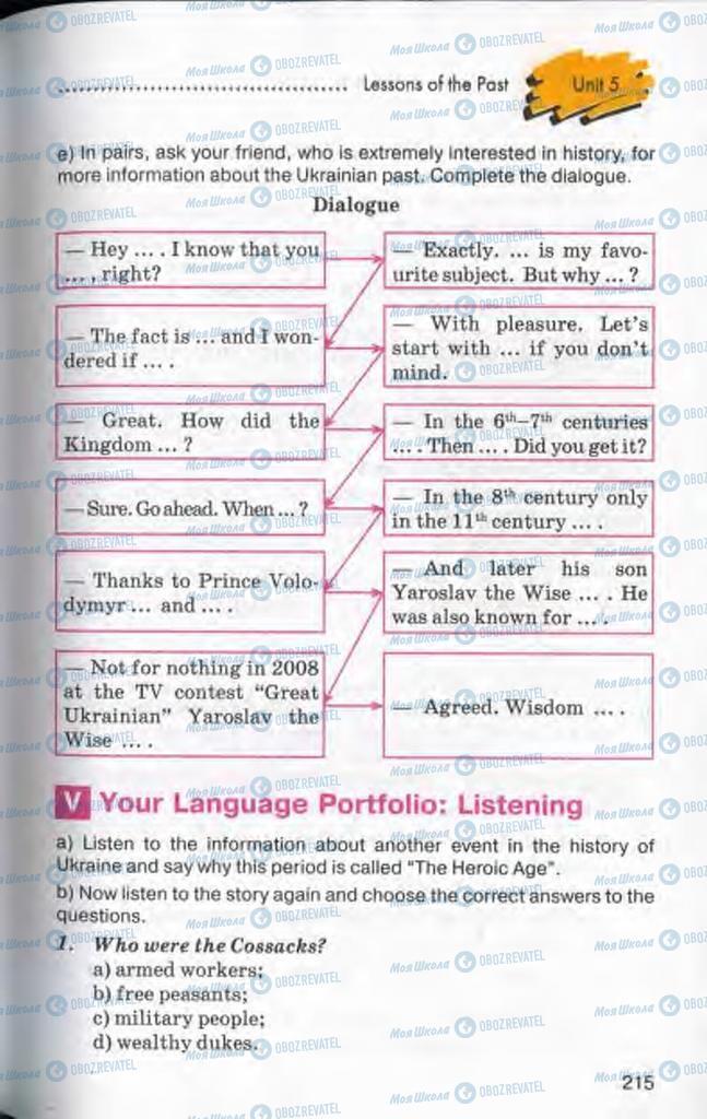 Підручники Англійська мова 10 клас сторінка 215
