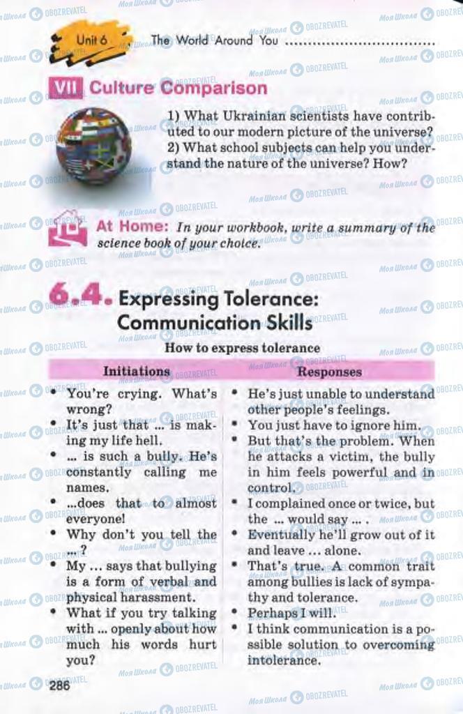 Підручники Англійська мова 10 клас сторінка 286