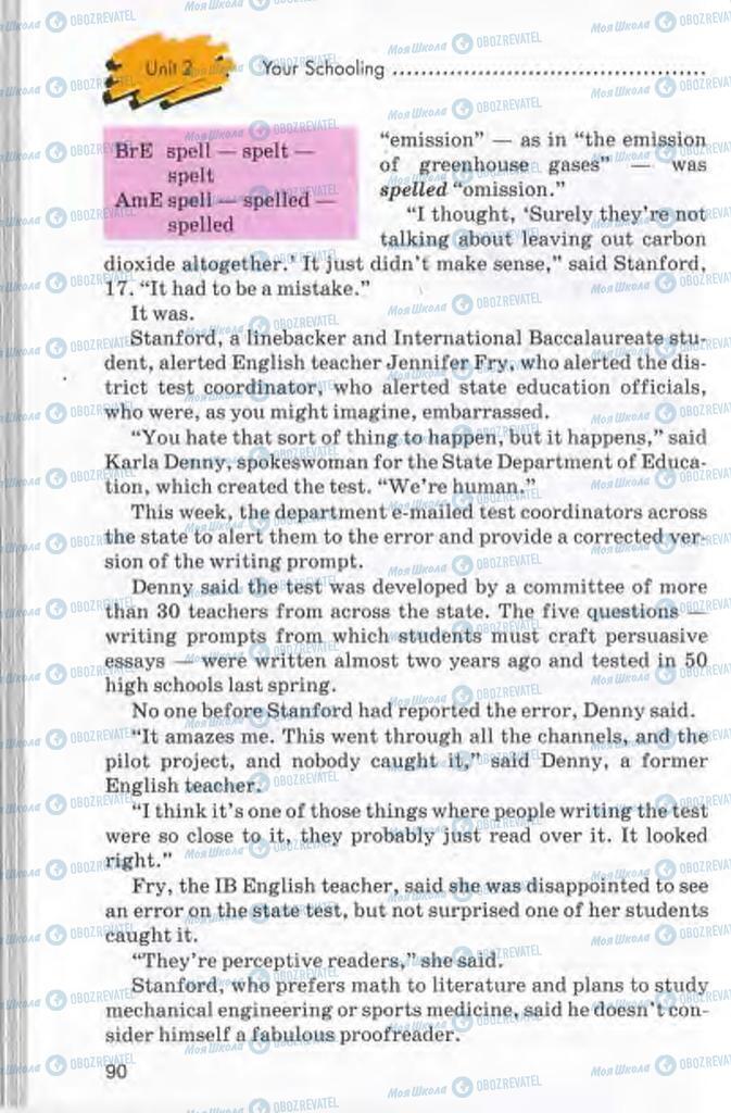 Підручники Англійська мова 10 клас сторінка 90