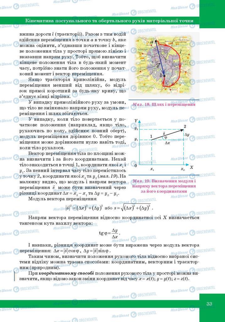 Підручники Фізика 10 клас сторінка 33