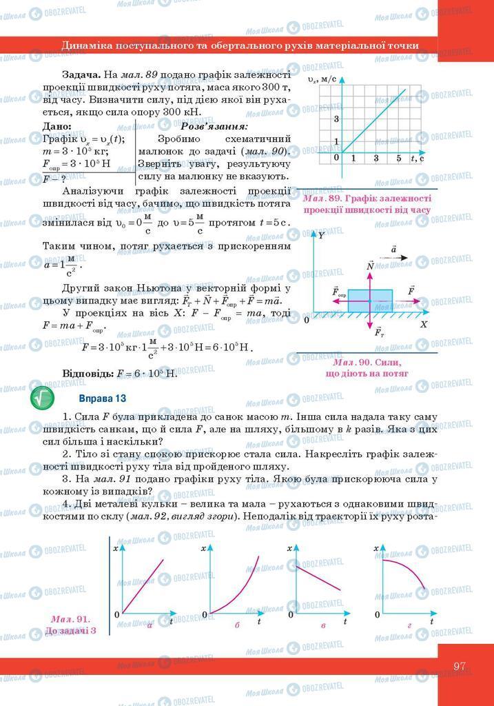 Підручники Фізика 10 клас сторінка 97