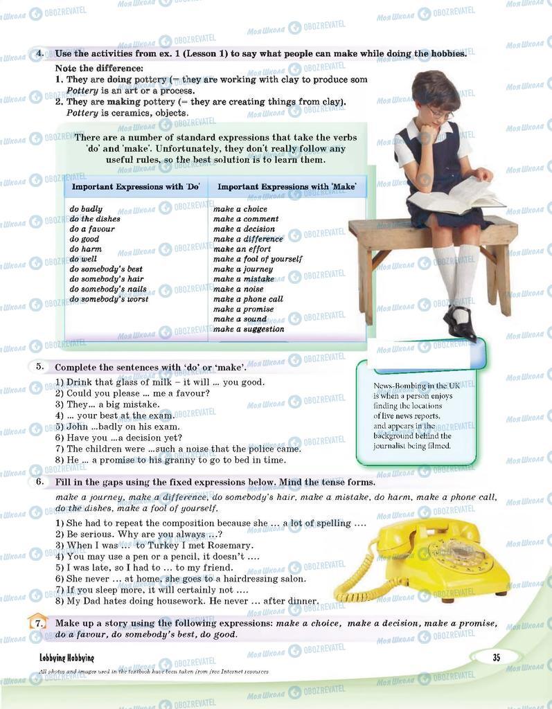Підручники Англійська мова 9 клас сторінка 35