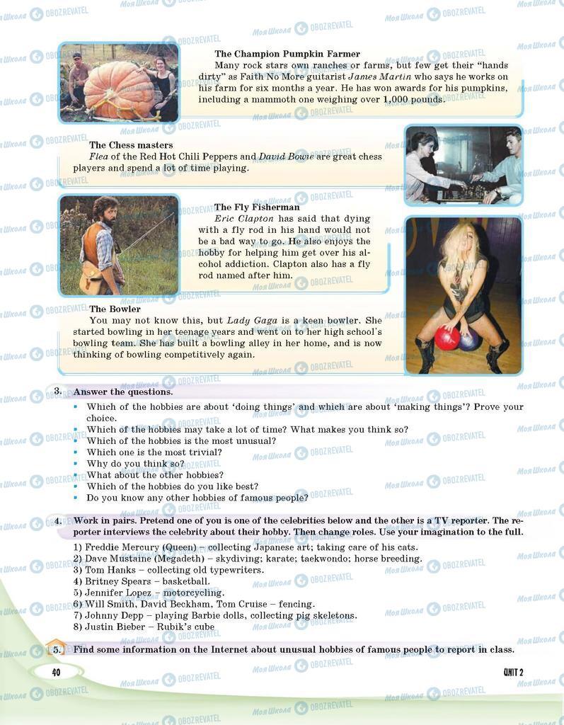 Підручники Англійська мова 9 клас сторінка 40