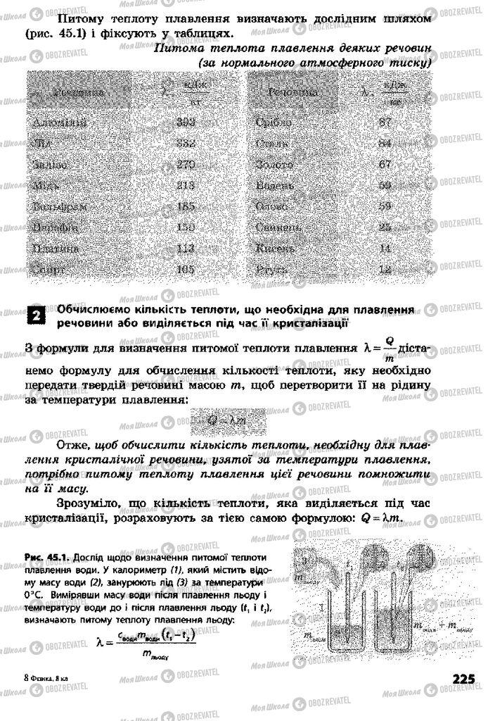 Учебники Физика 8 класс страница  225
