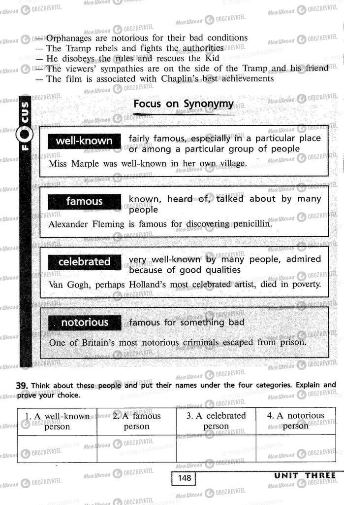 Підручники Англійська мова 9 клас сторінка  148