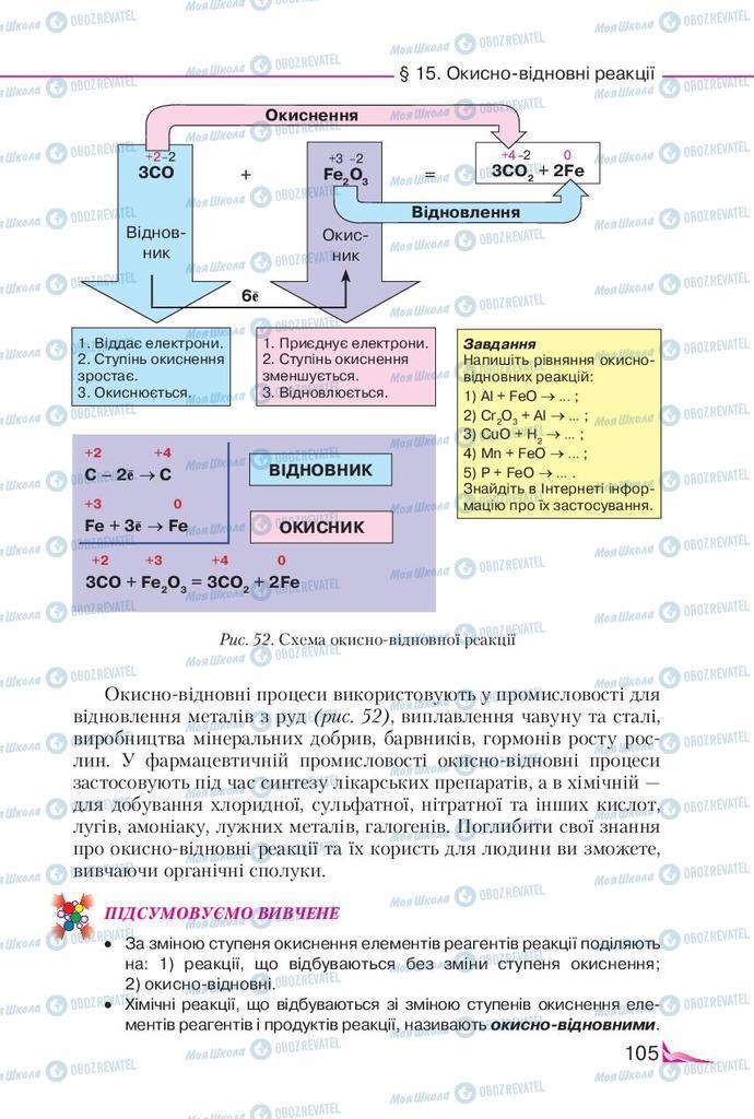 Підручники Хімія 9 клас сторінка 105