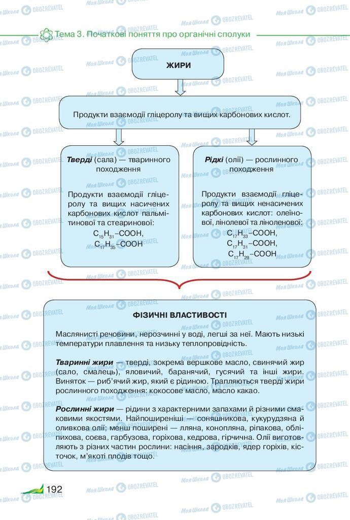 Підручники Хімія 9 клас сторінка 192