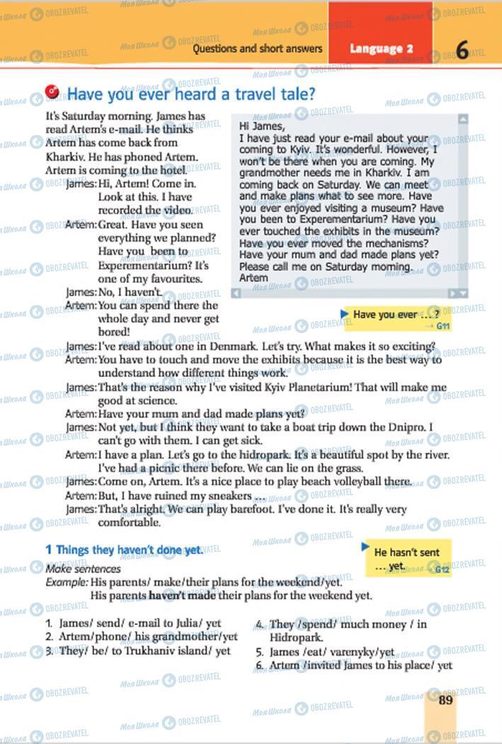 Учебники Английский язык 7 класс страница 89