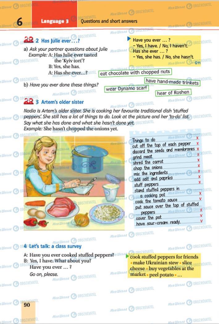 Підручники Англійська мова 7 клас сторінка 90