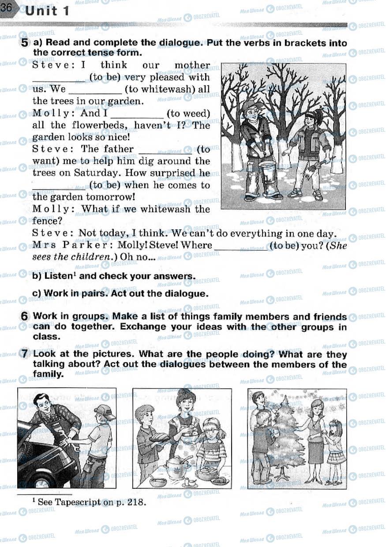 Учебники Английский язык 7 класс страница 36
