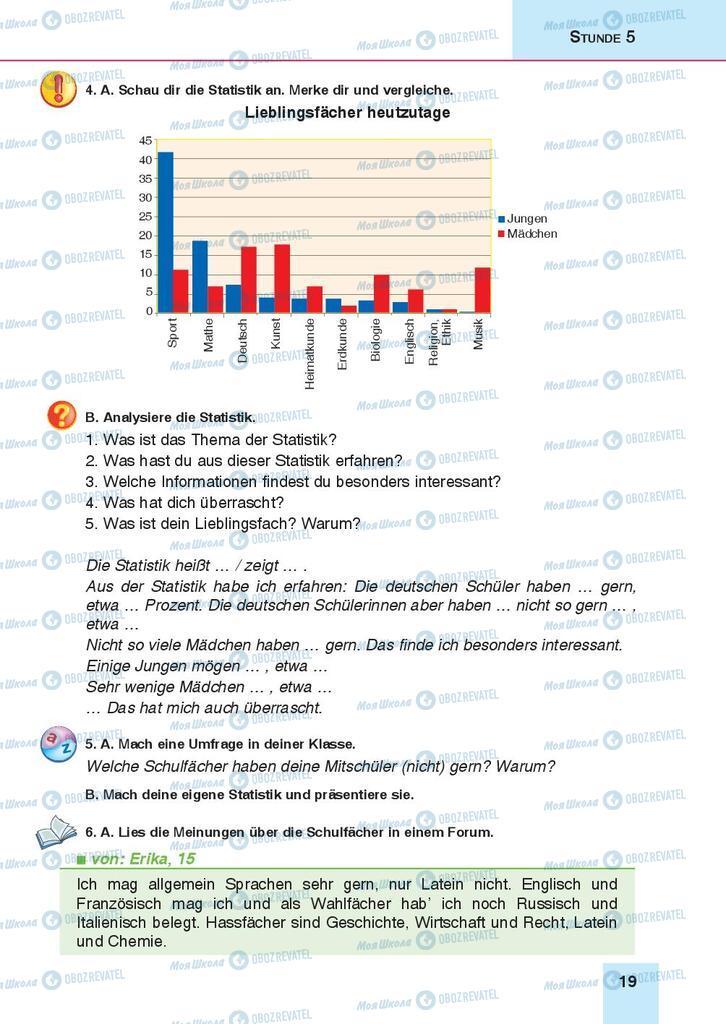 Підручники Німецька мова 9 клас сторінка 19