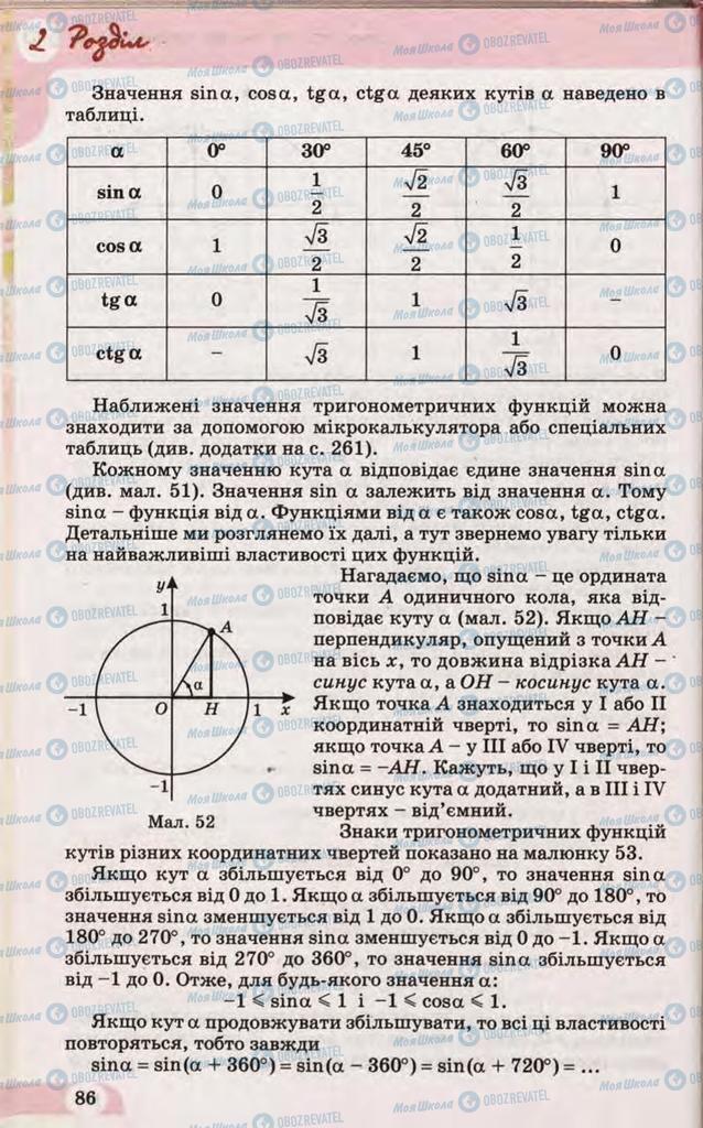 Учебники Математика 10 класс страница 86