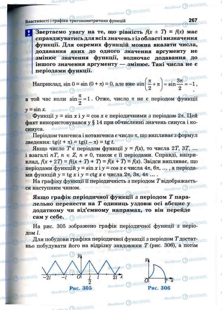 Підручники Математика 10 клас сторінка 267