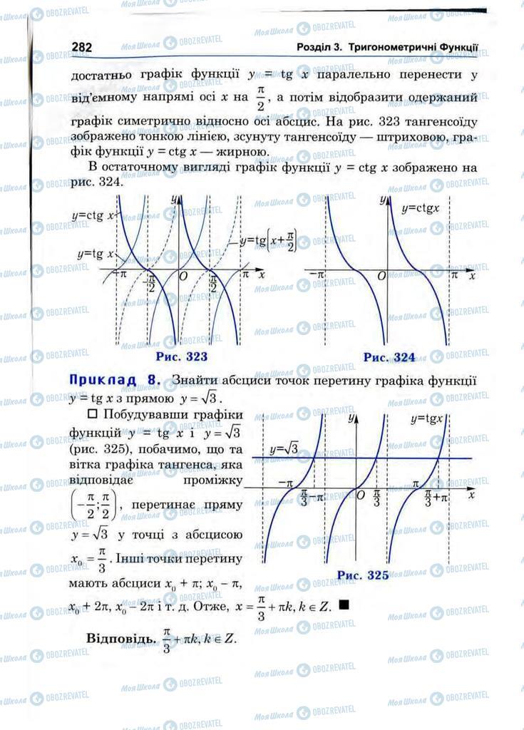 Підручники Математика 10 клас сторінка 282